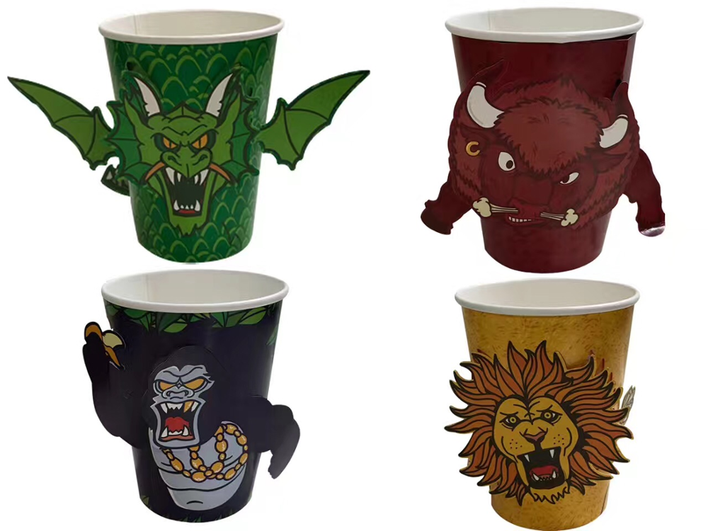 3D paper cup Halloween cup ,party animal cups