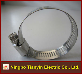 american standard worm gear perforated band hose clamp