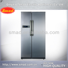 Side by side no frost french double door half coke refrigerators
