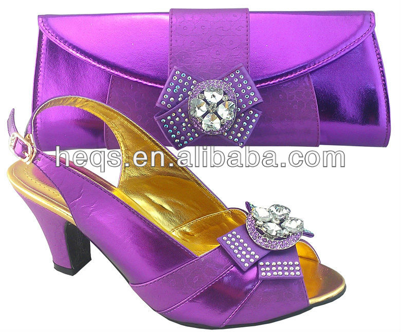 Wholesale Italian Matching Shoe and Bag Set for Party