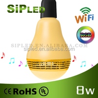 LED Light Bulb E27 Bluetooth Speaker 2 IN 1 Portable Wireless Music Smart Colorful RGB Bubble Ball Lamp 3W for iPhone