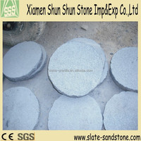 Natural owner of quarry and factory cheap dark grey round cheap granite paving with high quality