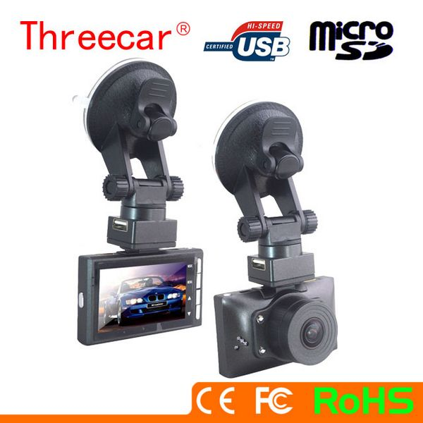 Free 2.7inch two SD card super wide angle SOS GPS G-sensor night vision r300 dash cam