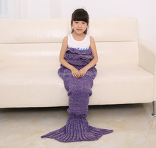 2017 Mermaid Tail Crocheted Blanket Adult and Children Winter Warmmer Sofa Blanket IN STOCK