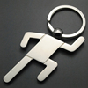 Athletics sports gym buffing metal keychain, nickel plated marathon running icon sculpture model souvenir key chain ring medals