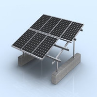 Solar panel black frame made in china