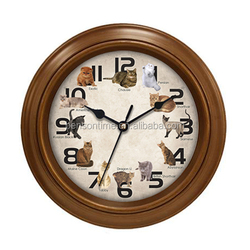 Cason quartz wall clock musical wall clock with cat sound