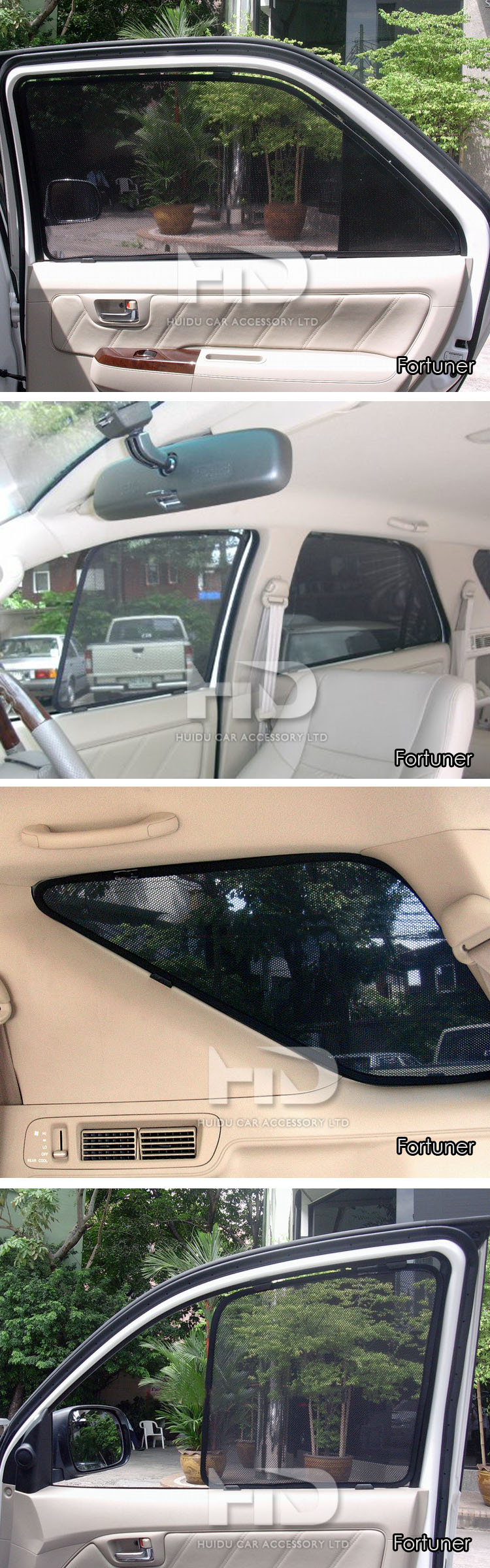 Custom fit shade mesh car lasershades for Fortuner