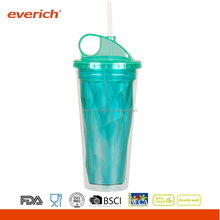 Everich diamond double wall tritan Sports water bottle with straw bps free