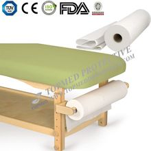 Hygiene Disposable medical bed sheet rolls with perforation,examination bed with paper roll