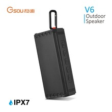 Portable 16W Wireless Outdoor Speaker with Rich Bass, IPX7 Waterproof, 24-Hour Playtime