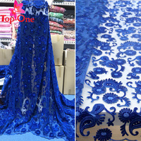 Velvet tulle french lace fabrics african fashion fabric embroidered for nigeria african with rhinestones sequins
