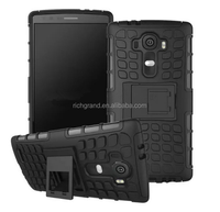 wholesale Heavy Duty Tire Style Hybrid TPU and PC Hard Stand Protective Case For LG G4