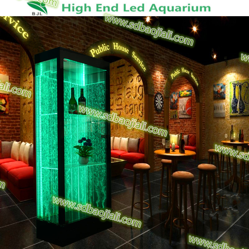 Modern acrylic display cubes aquarium cabinets led bar lounge furniture