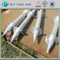 Factory supply directly hot dipped galvanized Q235 ground spike at best ground anchor price