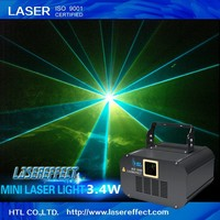 Hot sale 3.4w RGB full color animation mini disco party laser light for pub&club