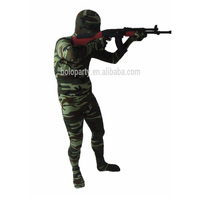 Camouflage green tight suits full body zentai costume morph suits