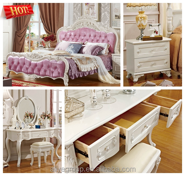 charming furniture french antique reproduction bedroom furniture sri lanka MB02(6pcs)