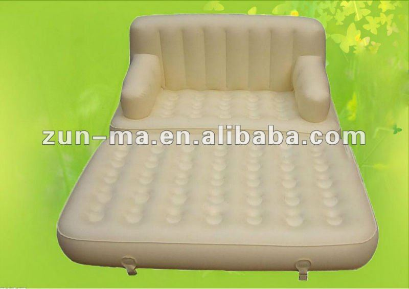 Inflatable white air sofa bed