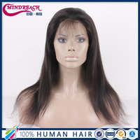 Best selling 7A lace front wig 100% Indian women hair wig