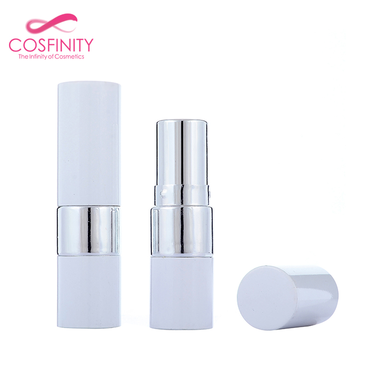 Guangzhou custom made luxury empty make your own lipstick tube aluminum white lipstick container