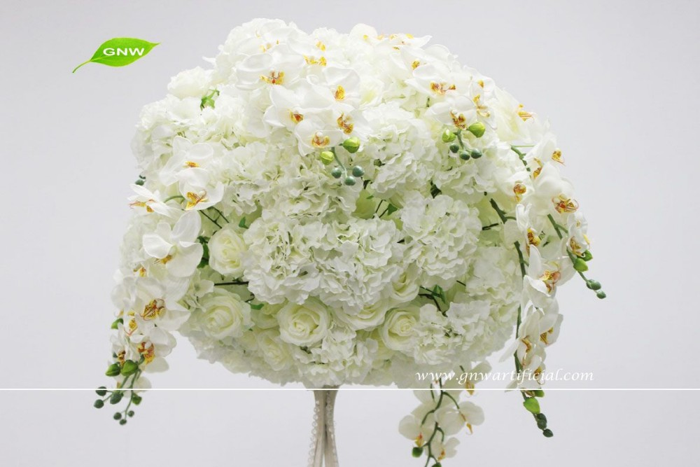 Gnw rose hydrangea orchid flower ball centerpiece for