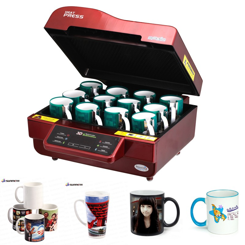 Freesub Double station digital magic mug printing machine ST-210
