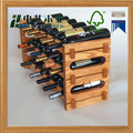 grand red locating groove wood wine rack floor standing