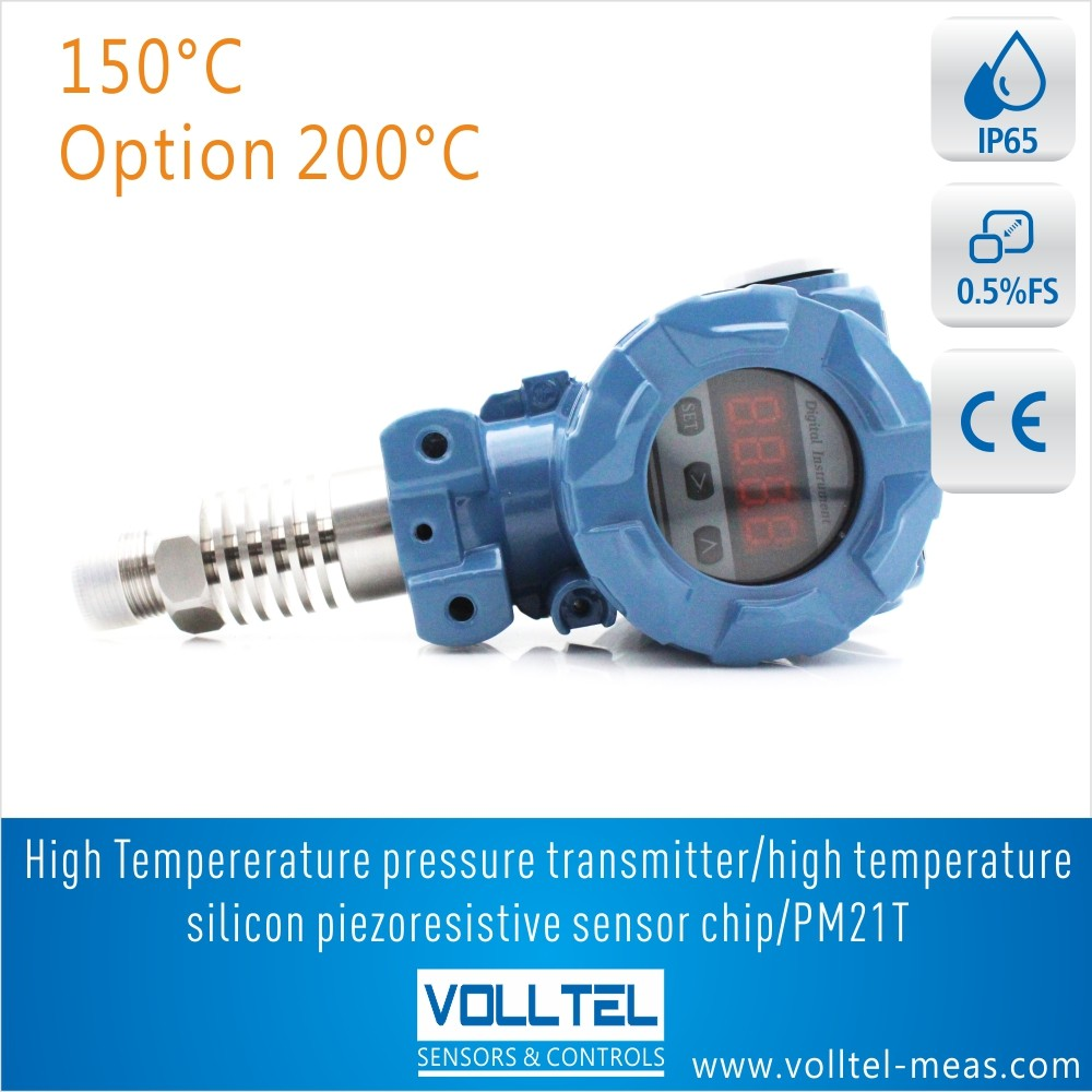 Pressure Transmitter For 100 C Hot Water,Steam,Boiler With Digital ...