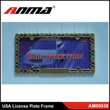 hot selling metal customized car chromed license plate frames