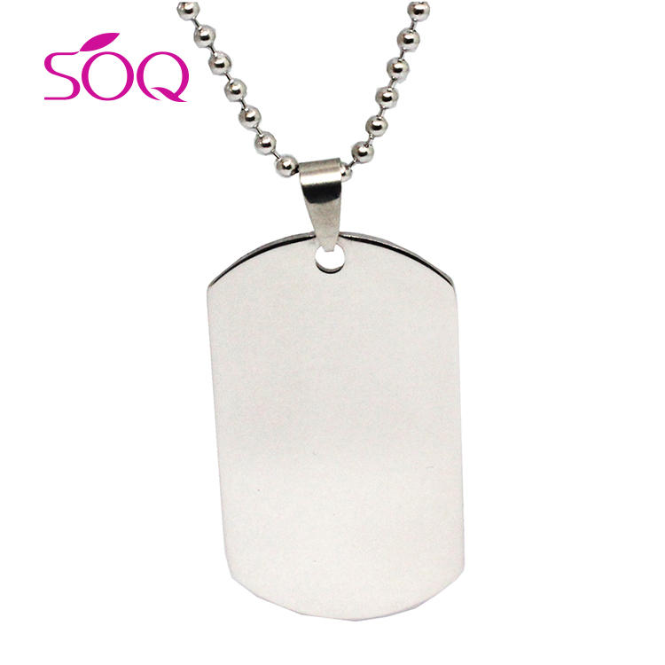 Titanium steel army card necklace Stainless steel dog tag wholesale and custom <strong>U</strong>.S. soldiers identity cardMetal tags