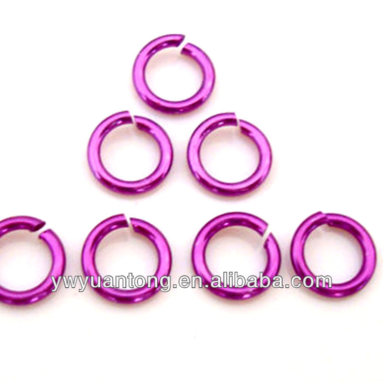 Wholesale fashion jewelry findings aluminum Jump Ring