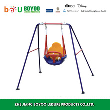 3-in-1 Toddler Swing Seat High Back, A-Frame Outdoor Swing Chair, Metal Swing Set for Backyard