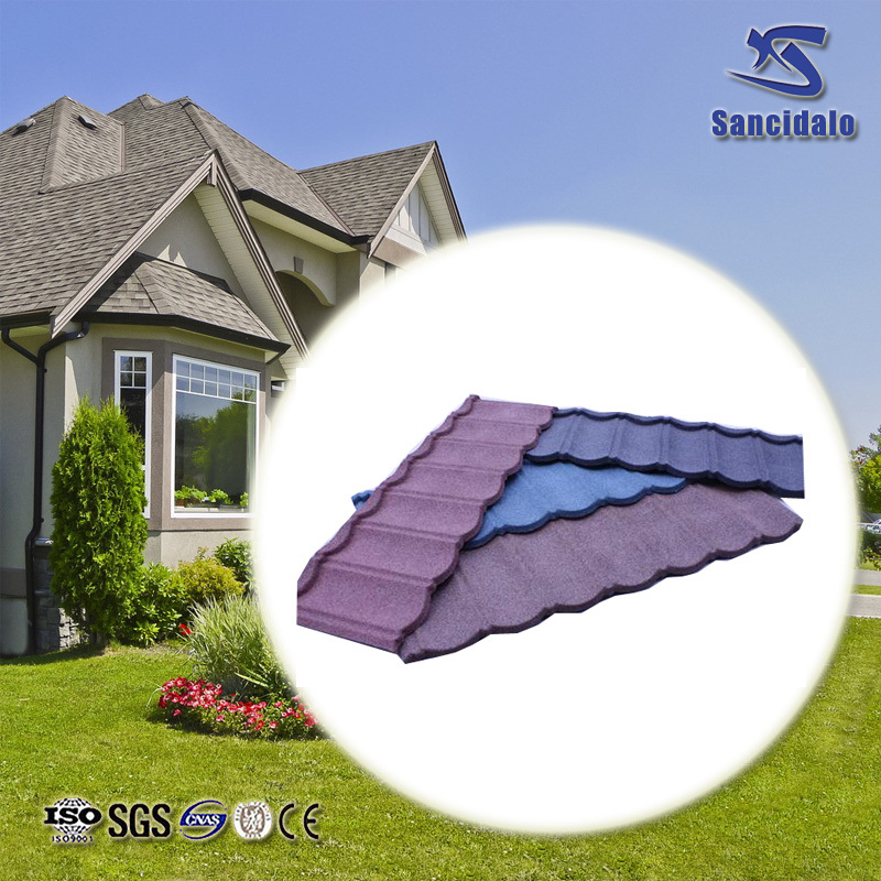 Colourful stone-coated metal roofing / zinc corrugated roofing sheet with 50 years lifespan