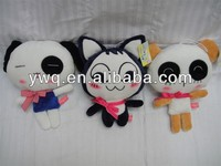 various plush lovely cat soft for kids custom plush toys with red clothes