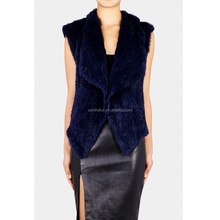 SJ022-01 Thick Knitting Shopping online Rabbit Product Clothing Fur Vest