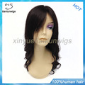 18inch wavy lace front wig indian remy hair for women, high grade cheap hair lace front wig with baby hair