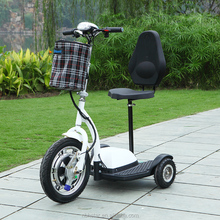 3 wheel Electric scooter 350w 500w three wheel scooter electric Tricycle with front baskets