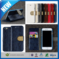C&T Wholesale high quality luxury rhinestone crystal pu leather case for apple iphone 6 6s