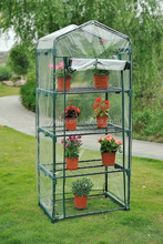 4 tiers mini greenhouse with zipper door