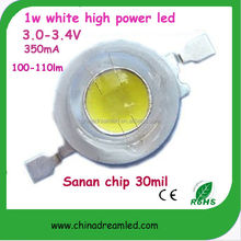 top quality 100% Guaranteed 1w warm white led