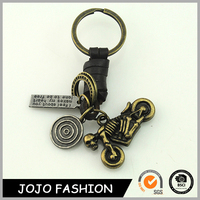 High Quality Promotional Item Skull Keychain, Skeleton Riding Motorcycle Keyring