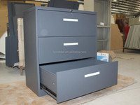 Commercial Office Vertical Wide Three Drawers Storage Filing Lockable Wall Cabinet