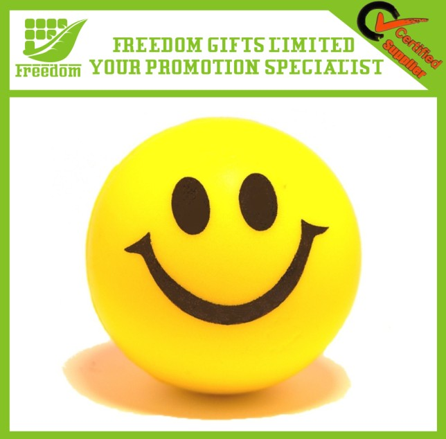 High Quality Promotional Logo Printed Smiley Stress Ball