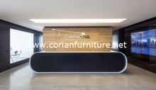 special design reception desk pure black counter for office ,hotel
