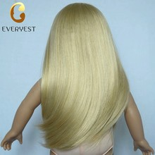 New perfect long golden PVC doll wigs manufacture