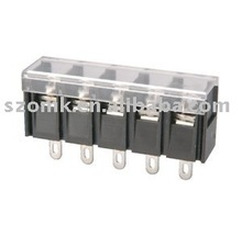 Barrier Type PCB Terminal Block Electronics Barrier Style Wire Connector with Clear Cover from China