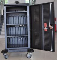 Table Cart Steel Laptop Charging And Storage Cabinet /Tablet Storage cart