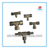 heavy industry manufacturing services 3 way elbow tube hose fittings