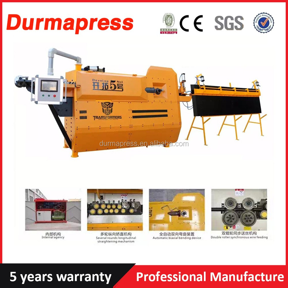 4-14mm Automatic Rebar Stirrup Bending Machine , Cnc All Kinds Shape Of Steel Bar Stirrup Bending Machine